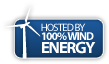 This site is hosted by 100% wind energy